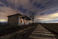 Go ahead. (Darkflip) Tags: longexposure largaexposición noche nocturna noctambulos nightscape abandonos tren españa cristinagarciaceleiro tomassanchez luisjdelafuente lucesdelpasado