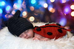 My little ladybug (antoniopedroni photo) Tags: elisa newborn baby girl newlife bambina neonata coccinella ladybug newbornphotography