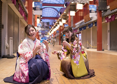 Teenage girls in hakama sitting in traditional Japanese shopping mall (Apricot Cafe) Tags: img22422 asakusa asia asianandindianethnicities japan japaneseethnicity japaneseculture kimono millennialgeneration sigma35mmf14dghsmart tokyojapan aspirations beautifulwoman bottle capitalcities carefree charming cheerful citylife cultures day drink edoperiod enjoyment foodanddrinks freedom friendship fulllength graduation hakama happiness lifeevents lifestyles lookingatcamera onlywomen outdoors photography portrait serenepeople shoppingmall sitting smiling soda street student teenager togetherness toothysmile traditionalclothing twopeople youngadult youngwomen taitōku tōkyōto jp