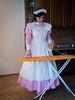 Pink Housemaid (blackietv) Tags: maid dress gown pink white pvc petticoat apron tgirl transvestite crossdresser crossdressing transgender kitchen dienstmädchenschürze pinafore epuron schort dienstmeisje schürze