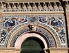 Madrid, Palacio de Velázquez (Sokleine) Tags: palaciodevelasquez palacio palace palais architecture 19thcentury retrivo park madrid espana espagne spain ceramics mosaics tiles arche fronton