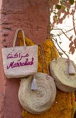 (Bantamgirl) Tags: marrakech morocco handmade handicraft hanging hessian medina souk tree for sale