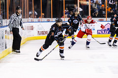 "Kansas City Mavericks vs. Allen Americans, February 24, 2018, Silverstein Eye Centers Arena, Independence, Missouri.  Photo: © John Howe / Howe Creative Photography, all rights reserved 2018 • <a style=""font-size:0.8em;"" href=""http://www.flickr.com/photos/134016632@N02/39790821634/"" target=""_blank"">View on Flickr</a>"