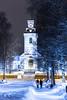 A road to church  in Kuopio (VisitLakeland) Tags: evening night dark winter view scene city kuopio park tree snow finland puisto lumi talvi rakennus building puu