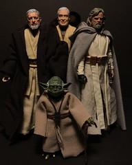 Jedi Masters (chevy2who) Tags: jedi master inch six custom series black skywalker yoda kenobi ben anakin luke toyphotography toy wars star