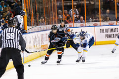 "Kansas City Mavericks vs. Toledo Walleye, January 19, 2018, Silverstein Eye Centers Arena, Independence, Missouri.  Photo: © John Howe / Howe Creative Photography, all rights reserved 2018. • <a style=""font-size:0.8em;"" href=""http://www.flickr.com/photos/134016632@N02/39806986722/"" target=""_blank"">View on Flickr</a>"