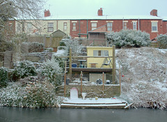 Snow covered houses by the canal (Tony Worrall) Tags: preston lancs lancashire city england regional region area northern uk update place location north visit county attraction open stream tour country welovethenorth nw northwest britain english british gb capture buy stock sell sale outside outdoors caught photo shoot shot picture captured ashtononribble ashton winter white freeze seasonal snow snowy chill cold beast chilly ice icy lancastercanal houses homes back gardens