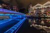 night on the river (funtor) Tags: color night river blue light city singapore illumination bridge