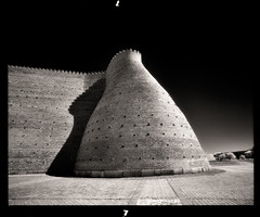 Wall (tsiklonaut) Tags: pentax 6x7 67 film analog analogue analogica analoog 120 roll medium format efke ir820 aura infrared infra infrapuna uzbekistan usbekistan bukhara ark fortress ancient unreal architecture structure wall silk road centralasia blackwhite mono monochrome shape architectual buhhaara drum scan drumscan scanner photomultipliertube pmt ngc