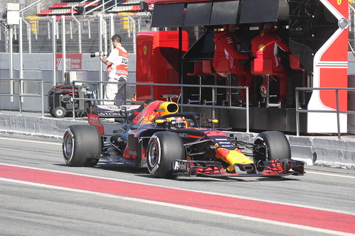 Max Verstappen during Formula One Winter Testing 2018