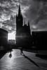 Dark (sdupimages) Tags: lowkey architecture monochrome nb bw ombres noirblanc blackwhite silhouette shadows stpancras londres london rue street
