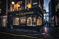 Ye Olde Watling (Jim Nix / Nomadic Pursuits) Tags: aurorahdr2018 england europe hdr lightroom london luminar2018 macphun skylum sony sonya7ii uk unitedkingdom yeoldewatling bar bluehour fishchips highdynamicrange pub streetscene travel
