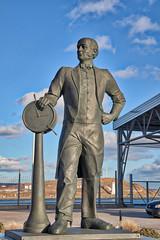 Samuel Cunard, Public Art on the Halifax Waterfront, Halifax Nova Scotia (internat) Tags: 2018 canada novascotia ns halifax downtown waterfront eosm5 aurorahdr hdr publicart clouds