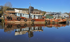 still rusting away (midcheshireman) Tags: tug tugboat proceed river weaver cheshire