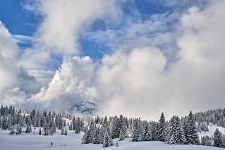 Behind the Curtains - Kaiser Winter Panorama at Straubinger Haus - Tyrol, Austria