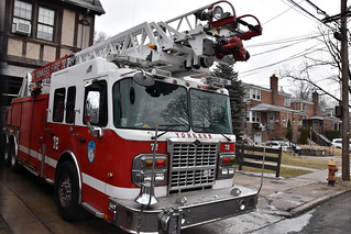 Picture Of City Of Yonkers New York Ladder Company 72 At 53 Shonnard Place In Yonkers New York. This Is A 2010 Smeal/ Spartan. Picture taken Saturday February 10, 2018