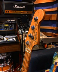 A Bass Photobomb (Pennan_Brae) Tags: musicphotography music recording recordingstudio musicstudio electricbass bass bassist bassguitarist bassguitar fenderprecisionbass precisionbass fenderbass fenderbassguitar fender