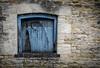Blue window (judy dean) Tags: peek paint peeling broken 2018 wall stowonthewold stones windows shutter door blue