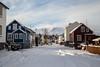 A streewiew Akureyri Iceland (joningic) Tags: oddeyri akureyri iceland urbannature urban gránufélagsgata old hlíðarfjall mountains mountain town winter february 2018