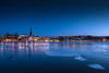 Stockholm (Kriss on flickr) Tags: stockholm longexposure longexposureshot city cityscape winter night nightshot bluehour ice suede