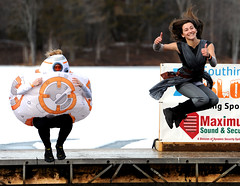 Sloperplunge-SO-012018_2924 (newspaper_guy Mike Orazzi) Tags: sloperplunge plunge campsloper southington 70200mmf28gvr d3 fundraiser winter cold ice icy weather bb8 starwars rayne water wet woman girl crazyhair smile jump leap leaping dock