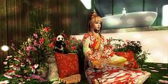 ◘○Maiko Relax○◘ (MISS SL ♛ New Zealand 2018) Tags: japon garden flower relax model day second maiko girls panda moment tmcreation