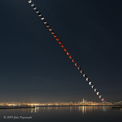 Super Blue Blood Moon over San Francisco (Images by John 'K') Tags: superbluebloodmoon moon lunareclipse supermoon bloodmoon bluemoon sanfrancisco sanfranciscobay night sky fullmoon nikon d750 d610 24120mm 80400mm composite johnkrzesinski johnk randomok explore explored