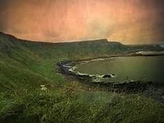 The first stab of love is like a sunset, a blaze of color (janetfo747 ~ Dreaming of Africa) Tags: britishisle travel colorful ireland greatcauseway beach coast texture green