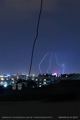 20170707-2324 (srkirad) Tags: travel belgrade beograd serbia srbija genex towers lightnings lightning storm cloud cloudy night dark flash flare buildings skyline