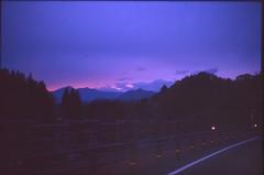 (✞bens▲n) Tags: leica m4 kodak e100sw summilux 50mm f14 film analogue slide japan gunma evening sunset drive driving mountains sky