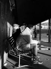 At the bus stop (LorenzoBuggio) Tags: streetphotography street milano milan bus blackandwhite bw