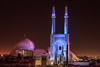 Jameh Mosque, Yazd, Iran (Feng Wei Photography) Tags: islamicculture persianculture traveldestinations islam art yazd persian landmark dusk spirituality colorimage nopeople placeofworship illuminated islamic jamehmosque mosque famousplace tranquilscene iran iranianculture travel builtstructure iwan tourism architecture minaret middleeast horizontal outdoors night irn