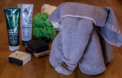 Things Meant to Be Used. (Adrian Tranquilino) Tags: spaday elephant towel bath metime spa clean shampoo 365project2018 soap