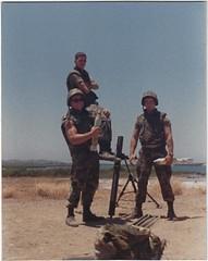 My mortar team, Cuba 1988 (1811/1812 USMC) Tags: marine marines crew corporal cuba carribean usmc gun guantanamo bay base 1988 81mm mortar bodybuilder muscle bicept shoulder sergeant