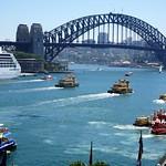 Sydney.  The Harbour Bridge and part of Circular Quay. thumbnail