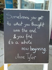 Anne Tyler quote (Christchurch City Libraries) Tags: chalkboard centrallibrarymanchester
