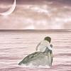 (Rafi Moreno) Tags: rafi canon moon luna fantasía mar mediterraneo stone piedra portrait selfportrait autorretrato retrato pink rosa photoshop soft nubes clouds vintage retro pale hipster