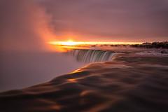 The fire within (JD~PHOTOGRAPHY) Tags: niagara niagarafalls waterfall water longexposure naturalwonder naturallandscape waterlandscape serene sunrise goldenhour nature canon canon6d