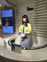 Aiko Chihira,the human robot in Tokyo (annenormark) Tags: japan tokyo daiba