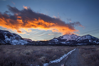 Mammoth sunset