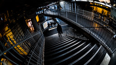 MC Peleng 8 mm f 3.5 A ( МС Пеленг 3,58А ) DSCF5787 (::Lens a Lot::) Tags: mc peleng 8 mm f 35 a 6 blades aperture   m42 or nikon mount paris 2017 darkness underground noise night light street streetphotography white vintage manual prime fixed length classic lens ruelle personnes route bâtiment metro subway gate station lignes train plafond russian color blue yellow red