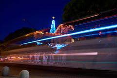 the star and the comets (Luis_Garriga) Tags: longexposure trafficlights lights cordoba argentina caraffa emiliocaraffa mec museo christmas christmastree christmasstar star comets