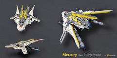 Mercury class Interceptor - details (Brick Martil) Tags: toy lego space spaceship spacecraft mercury interceptor scifi starfighter dynamic modern fighter futuristic