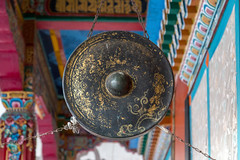 Gong (S. Torres) Tags: inde india sikkim gangtok monastère monastery rumtek temple bouddhiste bouddhism prayer book livre prière moine jeune monk young himalaya dharmachakra center gong