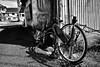 off-street 路地裏 (Sign-Z) Tags: monochrome bw nikon d4s afsnikkor28300mmf3556gedvr 28300mmf3556gvr bicycle offstreet alley モノクローム 白黒 自転車 路地裏