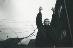 KIDS (fakeversaci) Tags: mask model gloomy film lupo lights nikonl35ad veronica dark shadow constrast spooky suburbs blackandwhite 35mm newyork queens