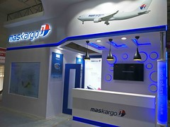 last minute preparations underway Maskargo, Air Cargo India 2018 (aircargoindia) Tags: aircargo aviation logistics freight supplychain shipping