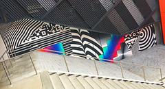 Downward Kaleidoscopic Geometry by Felipe Pantone (wiredforlego) Tags: graffiti mural streetart urbanart aerosolart nike nikeworld beaverton oregon pdx felipepantone stairs
