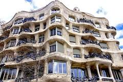 Since I was nearby ♪♫ (Fnikos) Tags: sky building architecture decor decoration column wall window balcony modernismo gaudí barcelona outdoor
