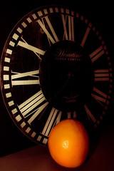 Macro Monday - My Favourite Novel (jmiller35) Tags: numbers shadow fruit macro orange clock clockworkorange myfavouritenovel macromonday